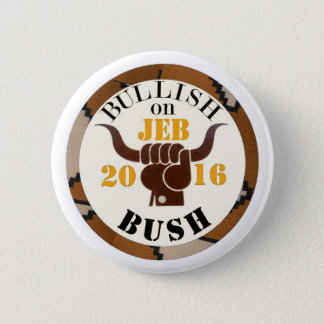 Bullish on Jeb for President 2016 2 Inch Round Button