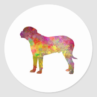 Bullma in watercolor.png classic round sticker