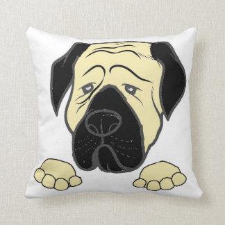 bullma peeking fawn.jpg throw pillow
