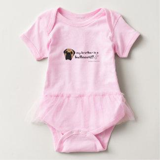 bullmastiff baby bodysuit