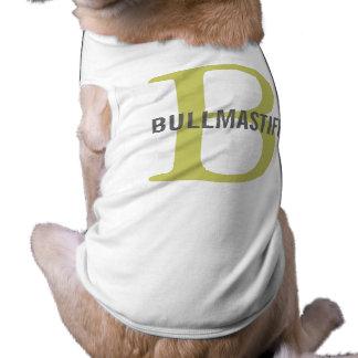 Bullmastiff Breed Monogram Design Doggie T-shirt