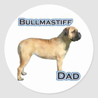 Bullmastiff Dad 4 - Sticker