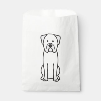 Bullmastiff Dog Cartoon Favour Bag