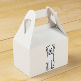 Bullmastiff Dog Cartoon Wedding Favor Box