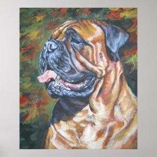 Bullmastiff Fine Art Poster Print