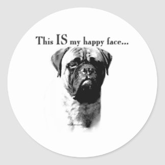 Bullmastiff Happy Face - Sticker