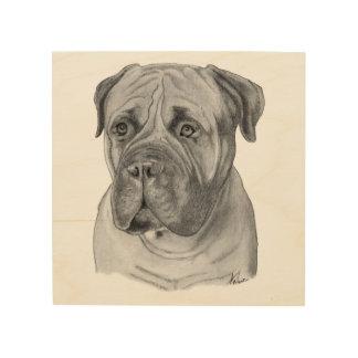 Bullmastiff Portrait Wood Print