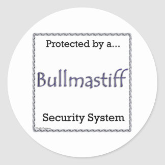 Bullmastiff Security System Sticker