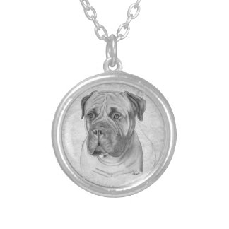 Bullmastiff Silver Plated Necklace