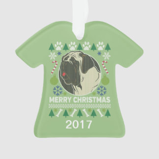 Bullmastiff Ugly Christmas Sweater Ornament