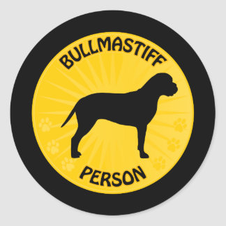 Bullmastiff Xing Round Sticker
