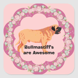 Bullmastiff's are Awesome Square Sticker