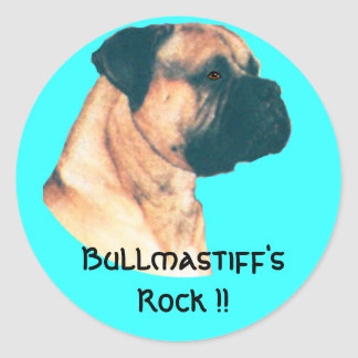 Bullmastiff's Rock !! Round Sticker