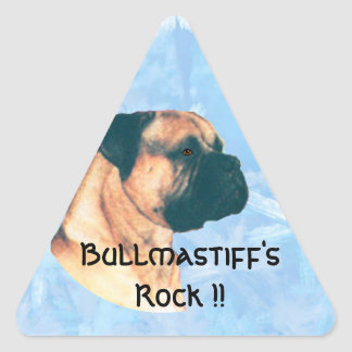 Bullmastiff's Rock !! Triangle Sticker
