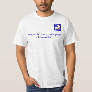 "Bulloch Tea Party Tee, ""Necessity T-Shirt"