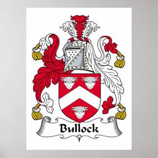 Bullock Family Crest Poster