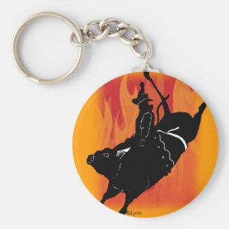 Bullrider  101 keychain