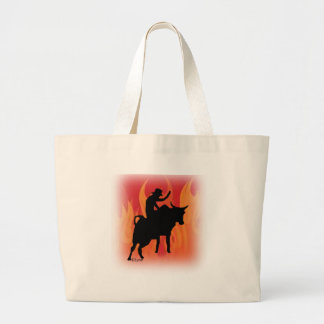 Bullrider 201 large tote bag