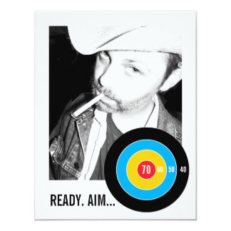 Bulls Eye 70th Birthday Invitation Target