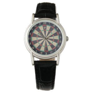 Bulls_Eye,_Dart_Board,_Ladies_Black_Leather_Watch Watch