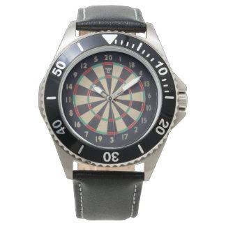 Bulls_Eye,_Dart_Board,_Mens_Leather_Watch Watch