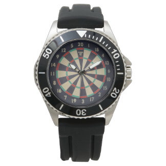 Bulls_Eye,_Dart_Board,_Mens_Rubber_Watch Watch