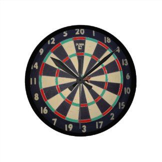 Bulls Eye On The Dartboard, Round Clock