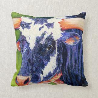Bulls Eye Pillow - Rodeo Bull