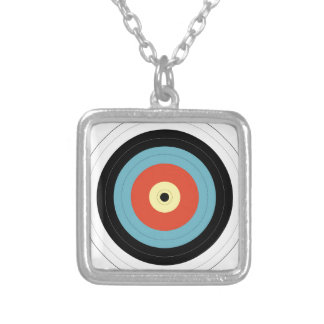Bulls Eye Silver Plated Necklace