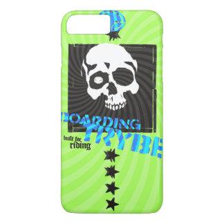 Bulls Eye Skull Skateboarding Graphic iPhone 7 Plus Case