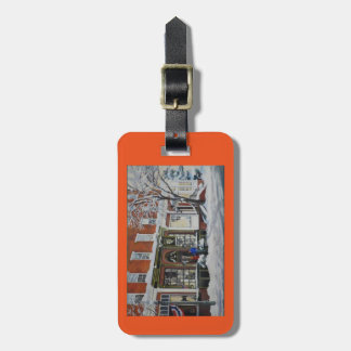 Bulls Head and General Sutter luggage or purse tag