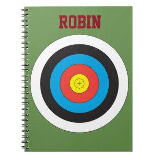 Bullseye Archery Personalized Notebook