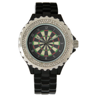 """Bullseye"" Classic Darts Dartboard Watch"