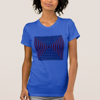 BULLSEYE Fashion Shirt-Women- Blue/Red T-Shirt