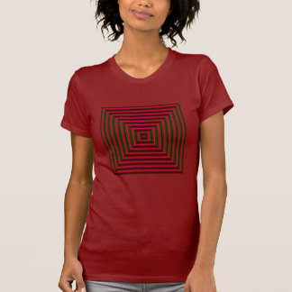 BULLSEYE Fashion Shirt-Women- Red/Green T-Shirt