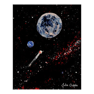 BULLSEYE! (large) (outer space art) ~ Poster