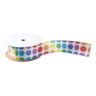 Bullseye Rainbow Ribbon Satin Ribbon