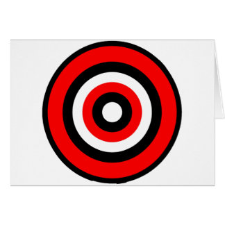 BullsEYE Red Black White Card