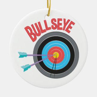 Bullseye Round Ceramic Ornament