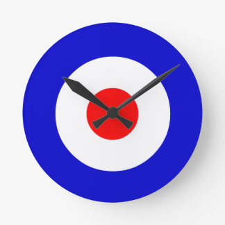 Bullseye Round Clock