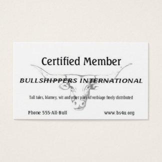 Bullshippers International member (no name) Business Card