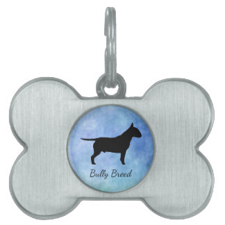 Bully Breed Bullterier Bone Pet Tag