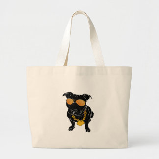 Bully breed design large tote bag