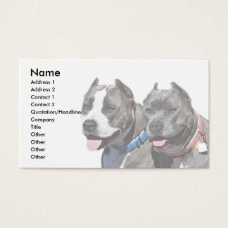 Bully Breed Pitbull Dog Animals Business Card