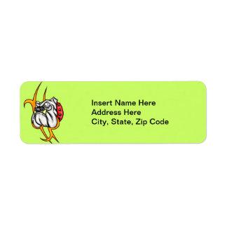 Bully Bulldog Return Address Label