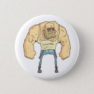 Bully Dangerous Criminal Outlined Comics Style 2 Inch Round Button