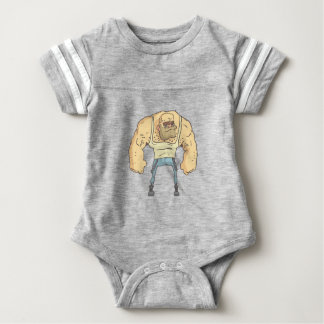 Bully Dangerous Criminal Outlined Comics Style Baby Bodysuit