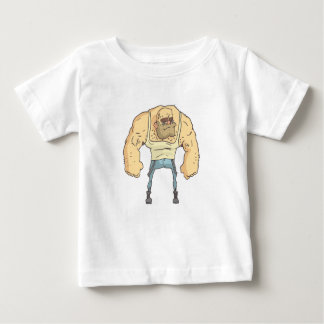 Bully Dangerous Criminal Outlined Comics Style Baby T-Shirt