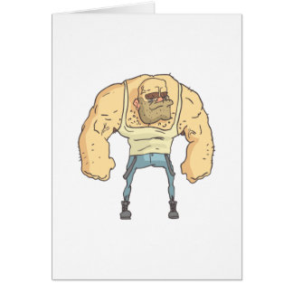 Bully Dangerous Criminal Outlined Comics Style Card