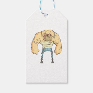 Bully Dangerous Criminal Outlined Comics Style Gift Tags
